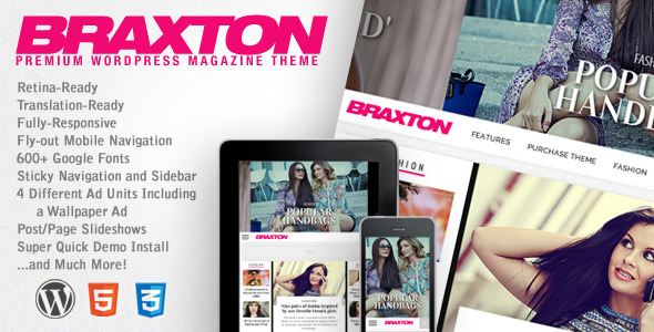 Braxton Premium Wordpress Magazine Theme