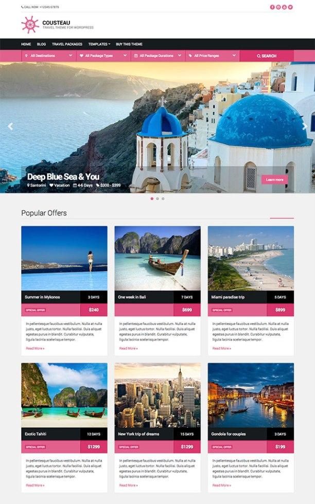 Cousteau WordPress theme