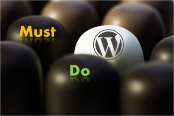 Must Do after WordPress installation