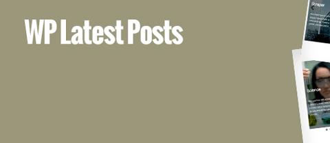 WP Latest Posts Plugin