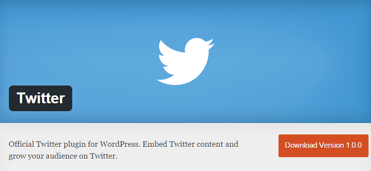 Twitter's official plugin