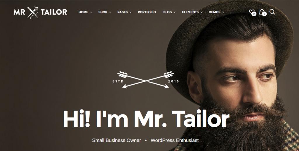 Mr.Tailor WordPress Theme
