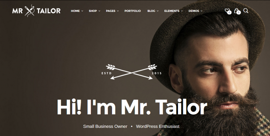 Mr.Tailor WordPress Theme