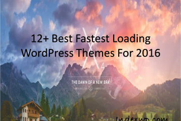 12+ Best Fastest Loading WordPress Themes For 2016