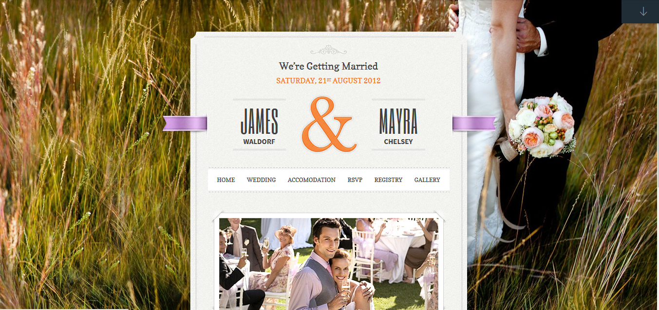 Just married wordpress theme