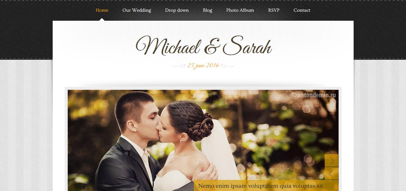 Marriage wordpress theme