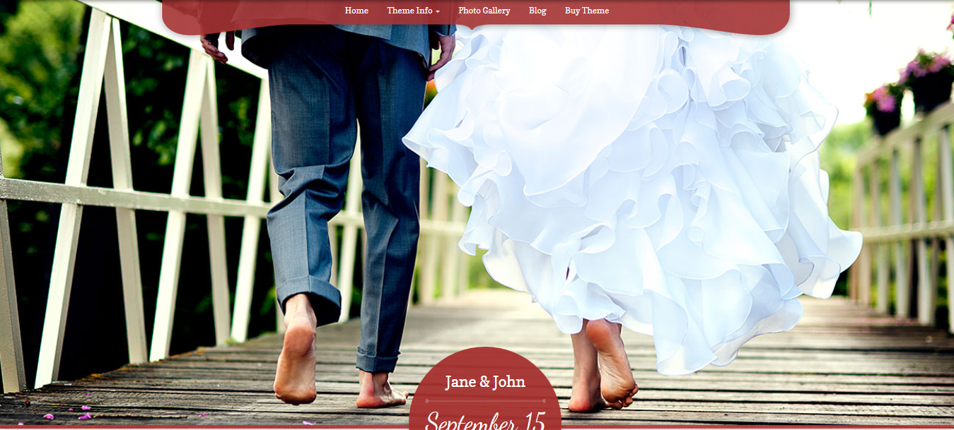My Wedding wordpress theme
